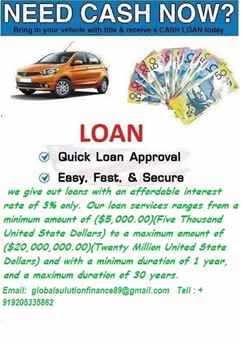 financial offer email for more info